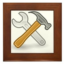 Funny Tools Framed Tile