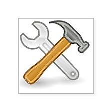 "Funny Tools Square Sticker 3"" x 3"""