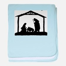 Nativity baby blanket