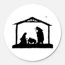 Nativity Round Car Magnet
