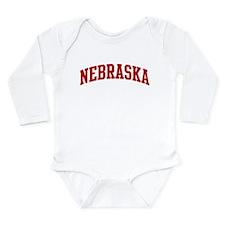 Cute Nebraska Long Sleeve Infant Bodysuit