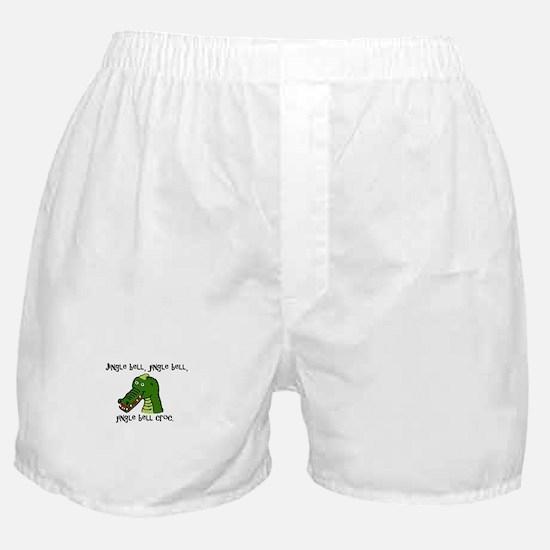 Jingle Bell Croc - Holiday Crocodile Boxer Shorts