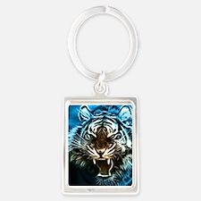 Fractal Tiger Art Keychains
