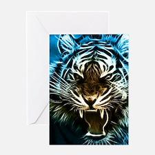 Fractal Tiger Art Greeting Cards
