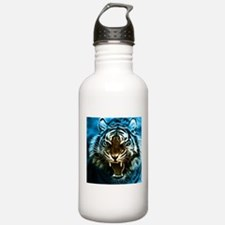 Fractal Tiger Art Water Bottle
