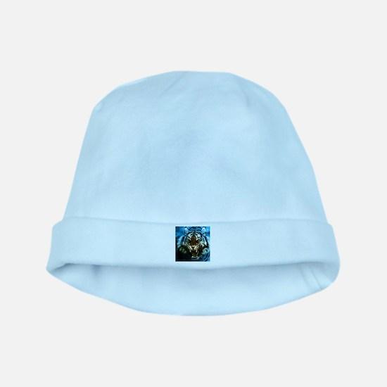 Fractal Tiger Art baby hat