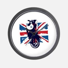Union Jack Scooter Wall Clock