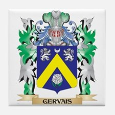 Gervais- Coat of Arms (Family Crest) Tile Coaster