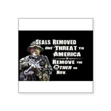 "Unique Navy seals team 6 Square Sticker 3"" x 3"""
