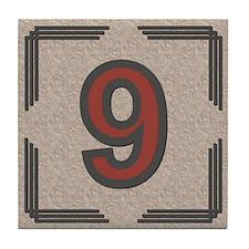 Santa Fe Inspired Number 9 Decorative Art Tile