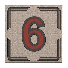 Santa Fe Inspired Number 6 Decorative Art Tile