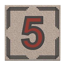 Santa Fe Inspired Number 5 Decorative Art Tile
