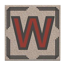 Santa Fe Inspired Letter W Decorative Art Tile