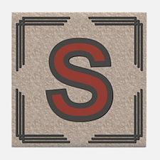 Santa Fe Inspired Letter S Decorative Art Tile