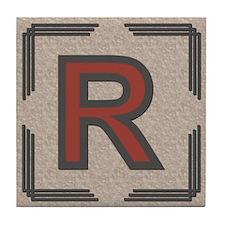 Santa Fe Inspired Letter R Decorative Art Tile