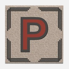 Santa Fe Inspired Letter P Decorative Art Tile
