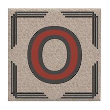Santa Fe Inspired Letter O Decorative Art Tile