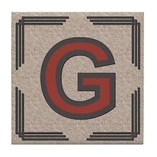 Santa Fe Inspired Letter G Decorative Art Tile
