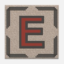 Santa Fe Inspired Letter E Decorative Art Tile