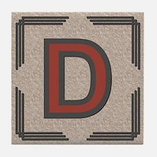 Santa Fe Inspired Letter D Decorative Art Tile