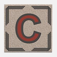 Santa Fe Inspired Letter C Decorative Art Tile