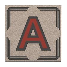 Santa Fe Inspired Letter A Decorative Art Tile