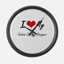 I love my Fashion Clothing Design Large Wall Clock