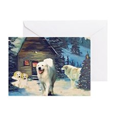 Unique Great pyrenees christmas Greeting Cards (Pk of 20)