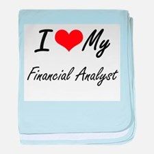 I love my Financial Analyst baby blanket