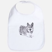 Red and White Welsh Corgi in the Snow Bib
