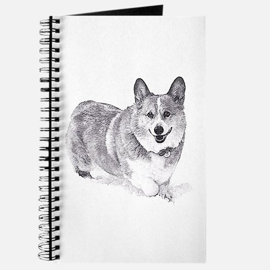 Red and White Welsh Corgi in the Snow Journal