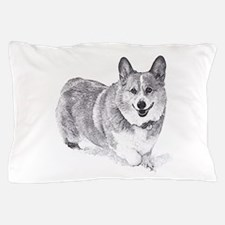 Red and White Welsh Corgi in the Snow Pillow Case