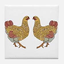Hen Party Tile Coaster