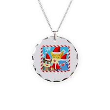 Unique Christmas bear Necklace