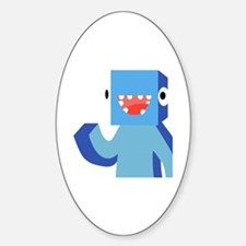 Funny Youtubers Sticker (Oval)