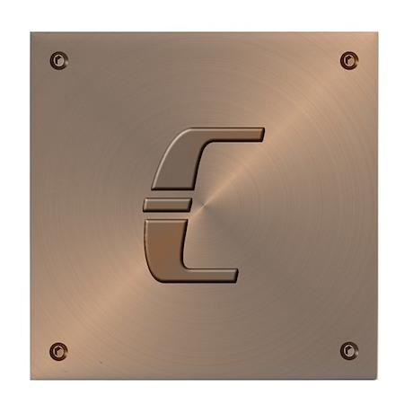 Faux Copper Letter C Decorative Ceramic Art Tile