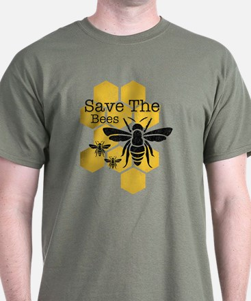Honeycomb Save The Bees T-Shirt