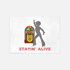 Stayin' Alive 5'x7'Area Rug