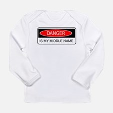 Unique Danger is my middle name Long Sleeve Infant T-Shirt