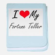 I love my Fortune Teller baby blanket