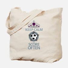 Keep Calm Soccer Tote Bag