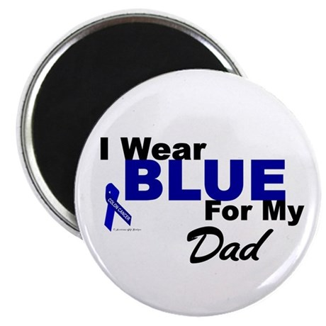 """I Wear Blue 3 (Dad CC) 2.25"""" Magnet (100 pack)"""