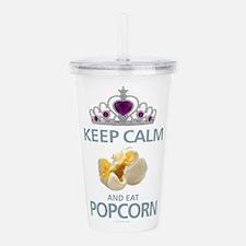 Keep Calm Popcorn Acrylic Double-wall Tumbler