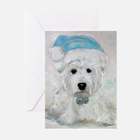 Funny Westie christmas Greeting Cards (Pk of 10)