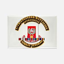 27th Eng Bn w Afghan Cbt Vet Rectangle Magnet