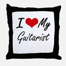 I love my Guitarist Throw Pillow