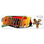 Cowgirl Bumper Sticker