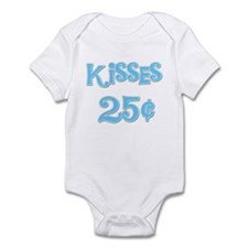 Kisses 25 Cents (blue) Infant Bodysuit