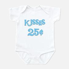 Kisses 25 Cents (blue) Infant Bodysuit