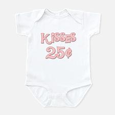 Kisses 25 Cents (pink) Infant Bodysuit